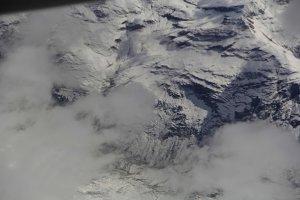 The Alps above Switzerland.