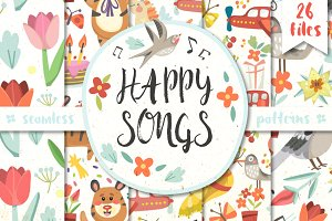 Happy songs patterns