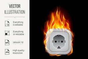 Realistic burning socket