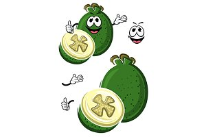 Cartoon australian feijoa fruit