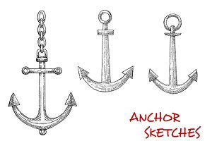 Sketches of admiralty marine anchors