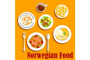 Dishes of norwegian cuisine