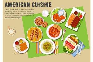 American cuisine menu