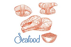 Seafood sketches