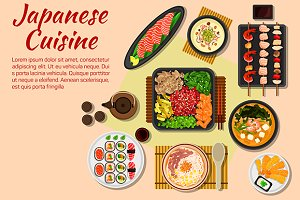 Japanese cuisine dishes