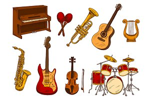 Orchestra musical instruments
