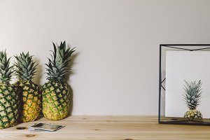 Pineapples and Framed Pineapple