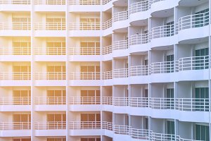 balcony of apartment building