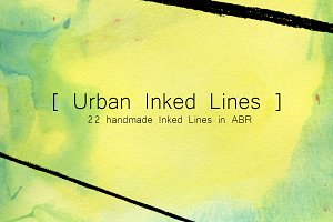 Urban Inked Lines (NEW AI brushes!)