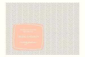 VECTOR & PSD Tribal Chevron tile & p