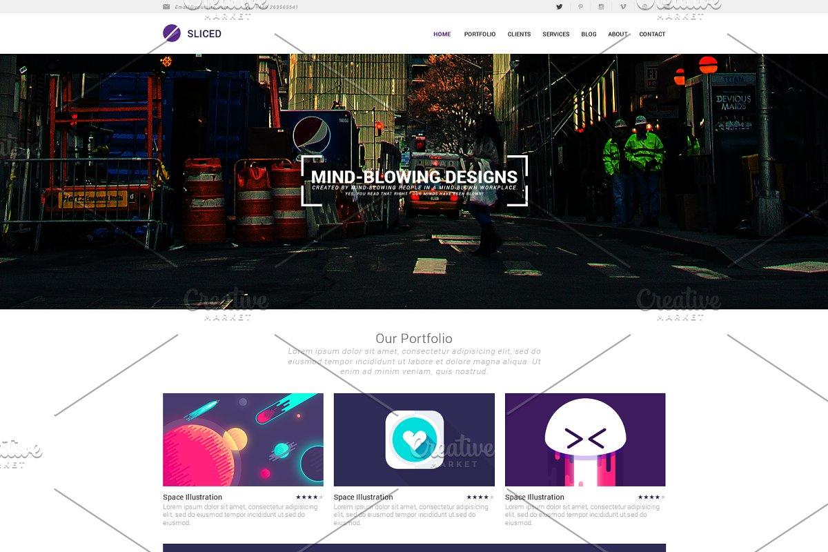 20 Premium PSD Website Templates