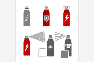 Antistatic Spray Icons