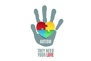 Autism awareness poster.