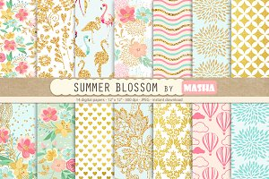 SUMMER BLOSSOM  digital papers