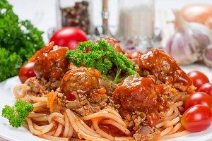 Italian dish spaghetti bolognese
