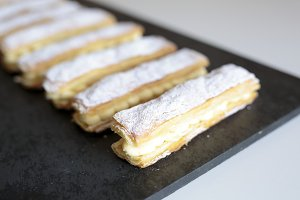 Homemade strudel cream