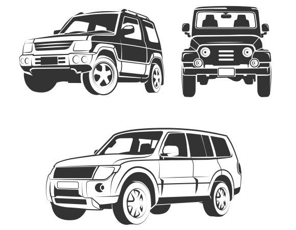 Off Road Suv Car Vector Graphics Creative Market