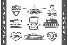 9 Insurance logo templates Vol.4