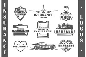 9 Insurance logo templates Vol.4
