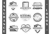 9 Insurance logo templates Vol.3