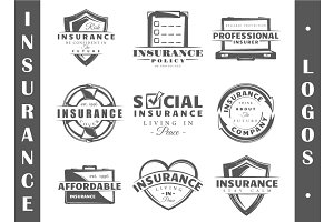 9 Insurance logo templates Vol.3