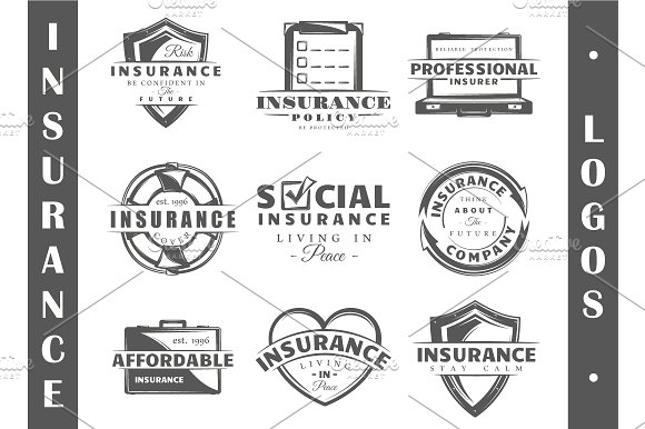 9 Insurance logo templates Vol.3 - Logos