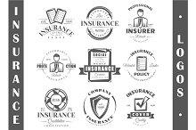 9 Insurance logo templates Vol.2