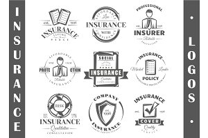 9 Insurance logo templates Vol.2