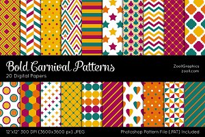 Bold Carnival Digital Papers