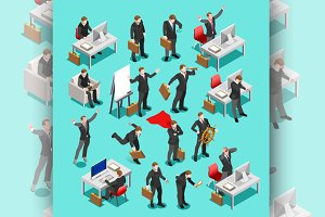 Businessman Isometric People