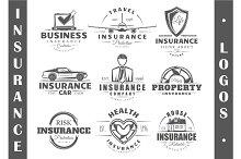 9 Insurance logo templates Vol.1