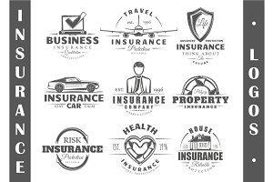 9 Insurance logo templates Vol.1