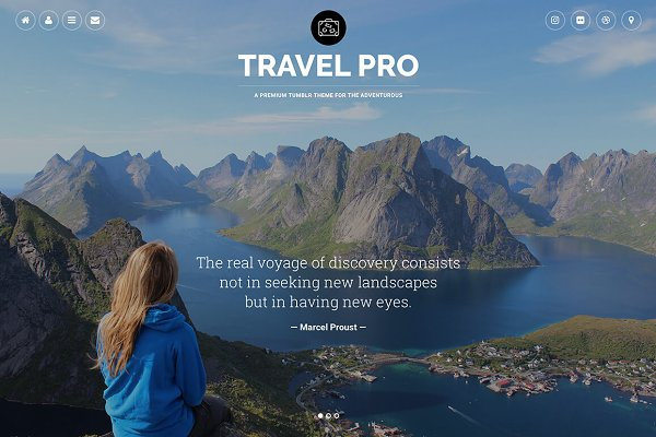Tumblr Themes: Themelantic - Travel Pro Tumblr Theme