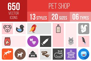 650 Pet Shop Icons