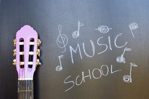 Music school of guitar for children