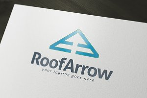 Roof Arrow Logo Template