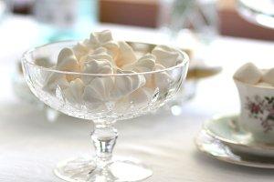 Vintage bowl and meringue