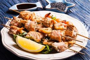 The Seafood shashlik