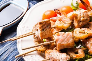 The Seafood shashlik