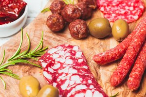 The Salami antipasto