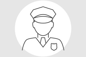 Police officer avatar