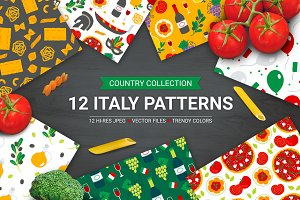 12 Italy Seamless Patterns