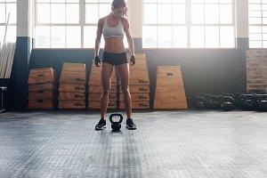Tough fitness woman