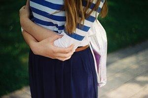 Girl in a summer skirt