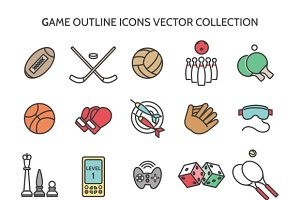 Game outline icons