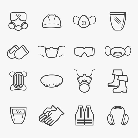 Occupational safety and health icons ~ Graphics ~ Creative