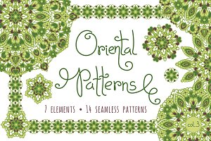 Oriental Patterns - Color Palette 3