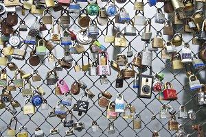 Love Locks in Portland, Maine