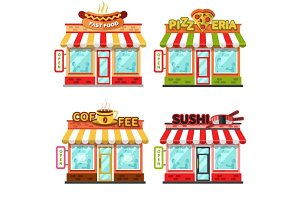 Vector Fast Food Restaurants