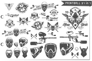 32 in 1 Paintball emblems and design